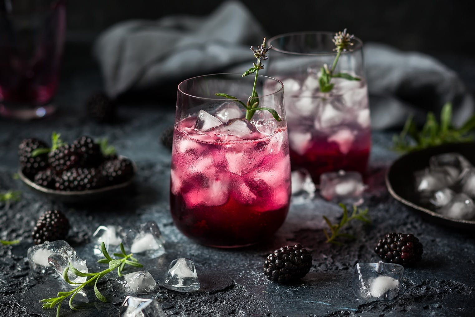 Blackberry and Lavender Gin and Tonic