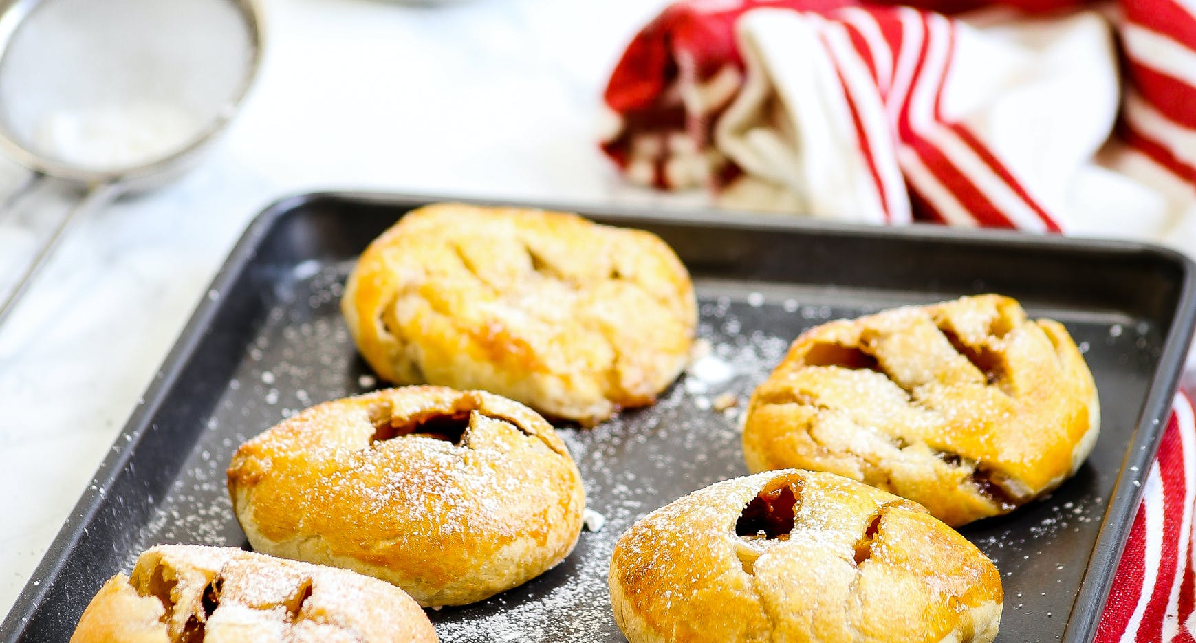 Sour Cherry and Apple Eccles Cakes
