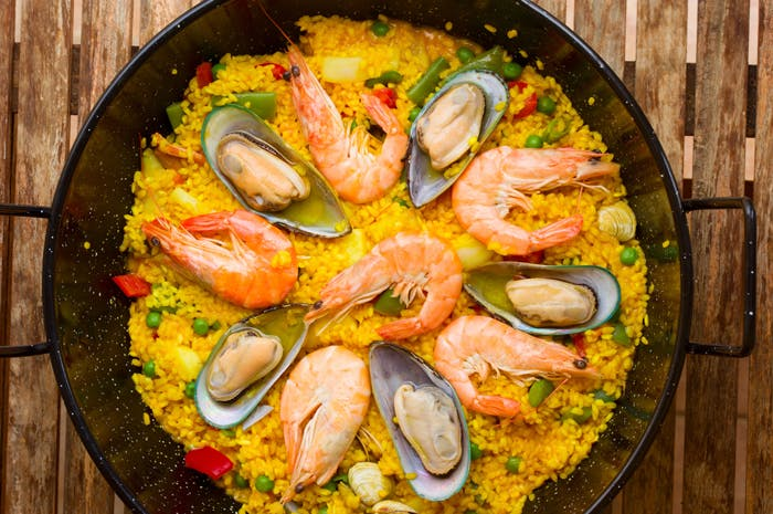 Seafood Paella - The one pot wonder