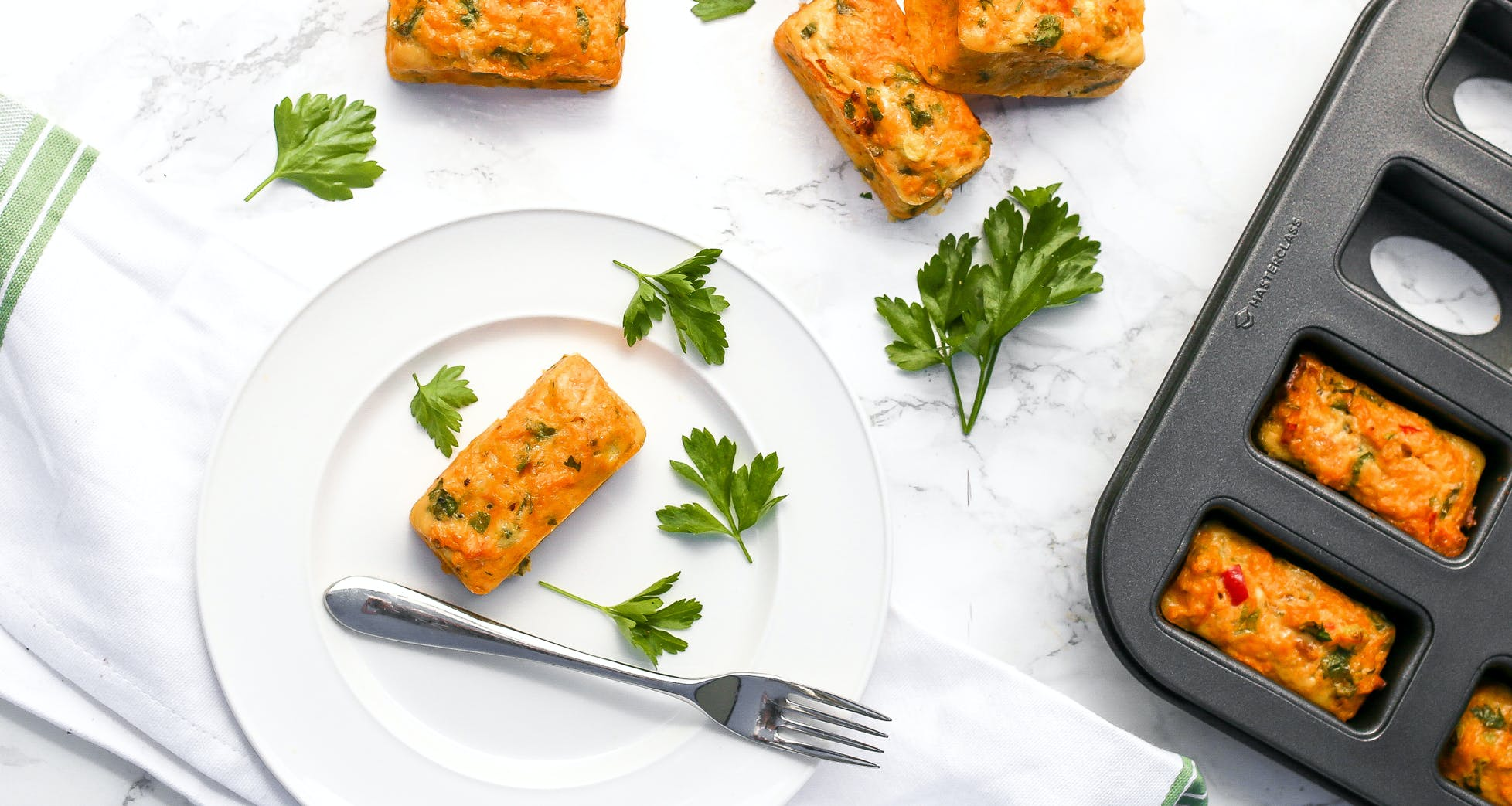 Sweet Potato, Chili and Coriander Frittatas