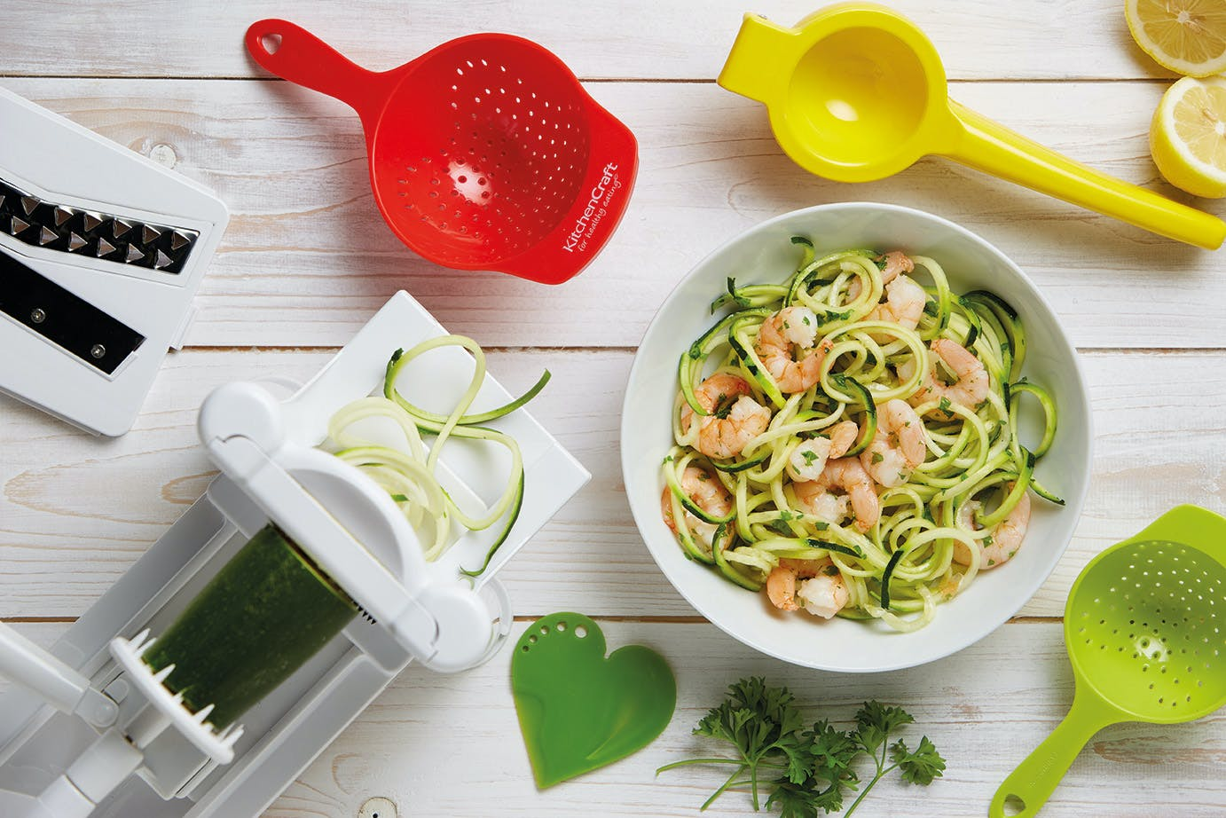 Prawn Courgetti with Soy and Ginger Dressing