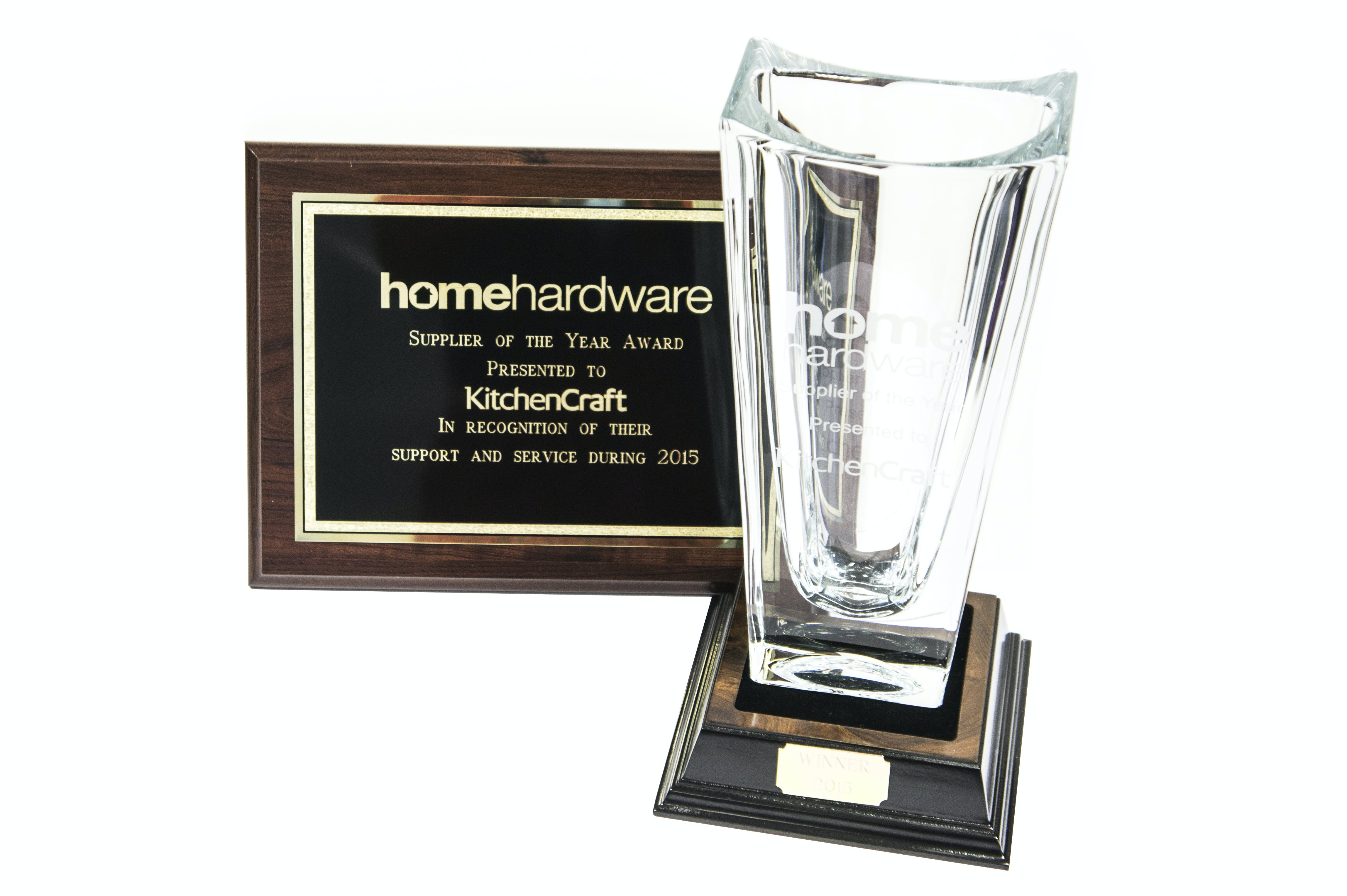 Home Hardware SUPPLIER of the YEAR 2015 award - Kitchen Craft winner