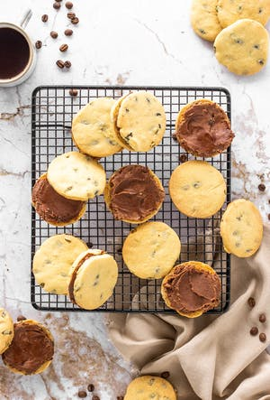 Pumpkin and Vanilla Shortbreads Filled with Chocolate and Espresso Curd