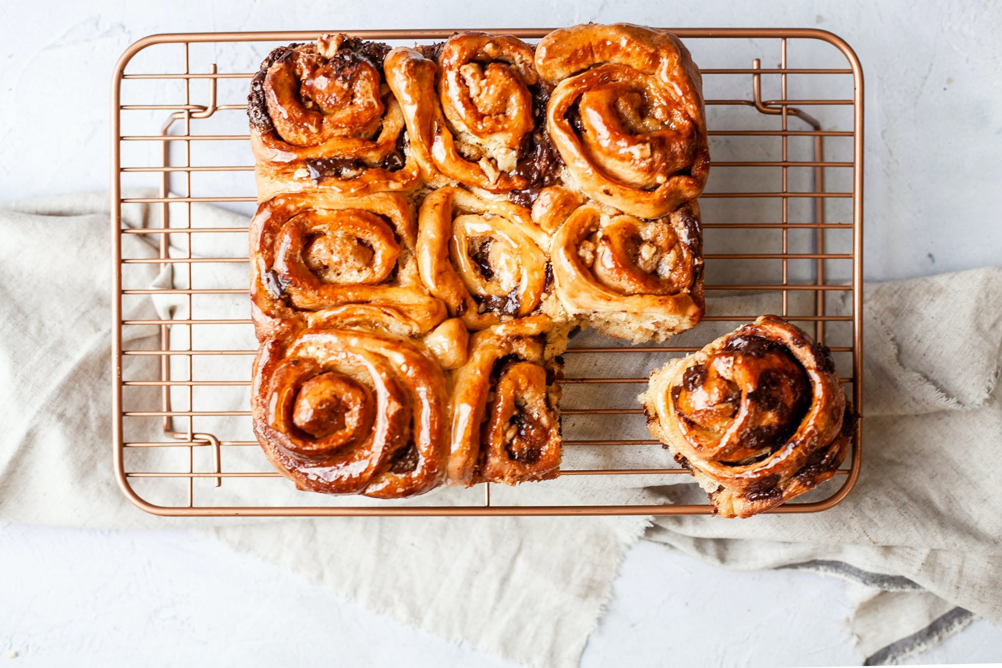 Coffee, Chocolate and Walnut Swirls