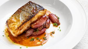 Miso Hake with Sweet and Sour Shallots