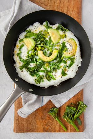 Egg White Omelette with Fresh Greens