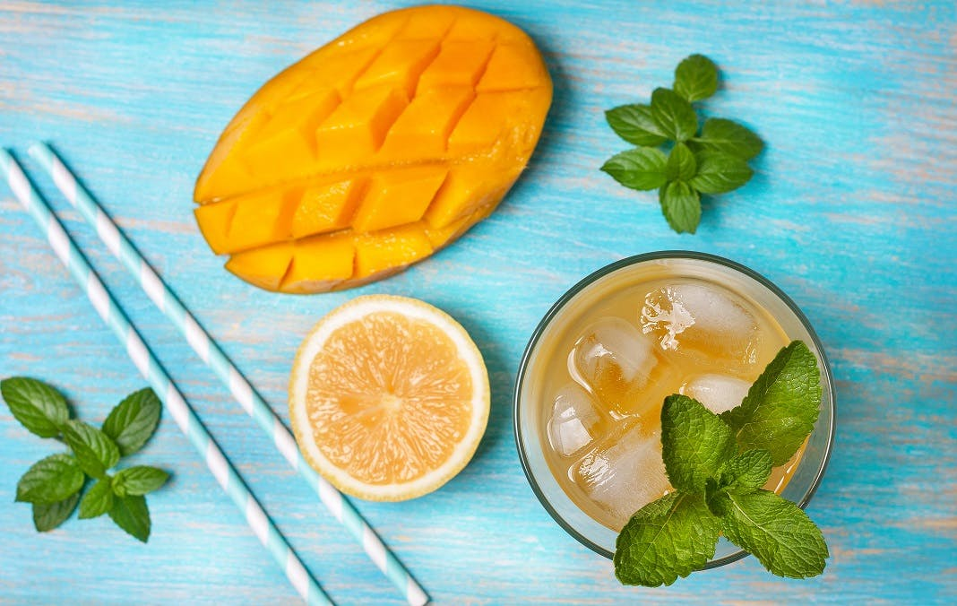 Mango and Mint Lemonade