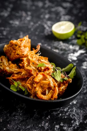 Turkey and Onion Bhajis