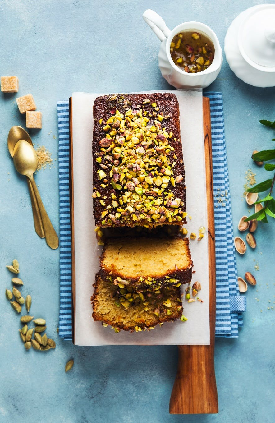 Pistachio and Cardamom Loaf Cake