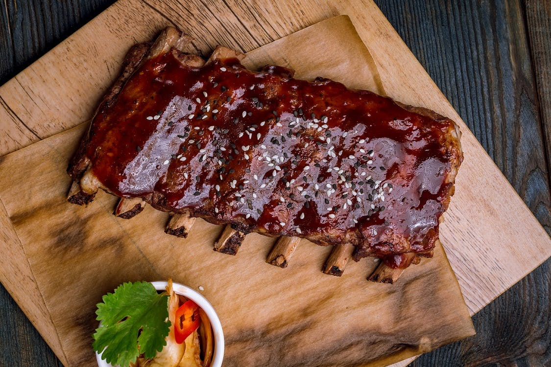 Sticky Miso Ribs with Asian Style Slaw