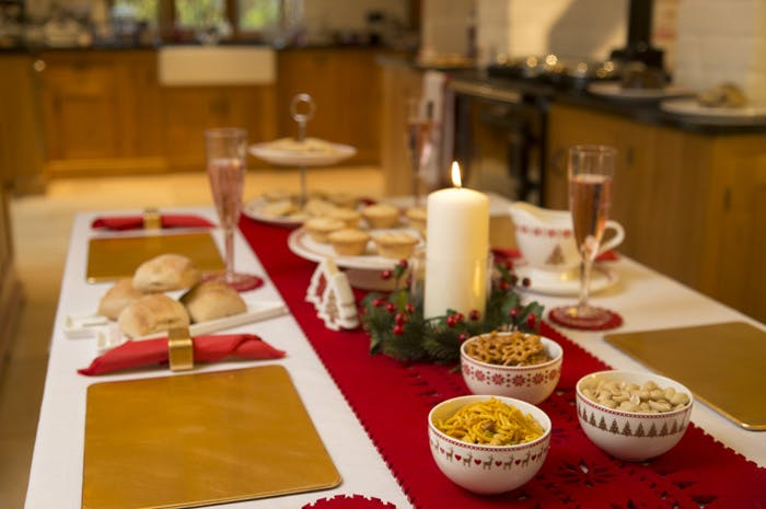 Setting the Christmas Dinner Table