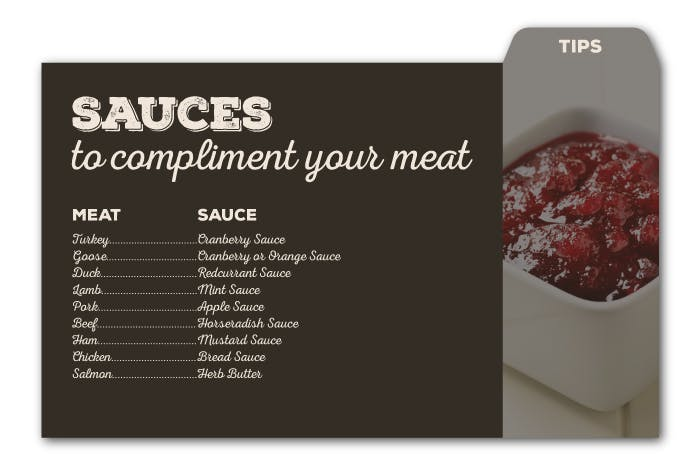 Sauces to compliment your meat