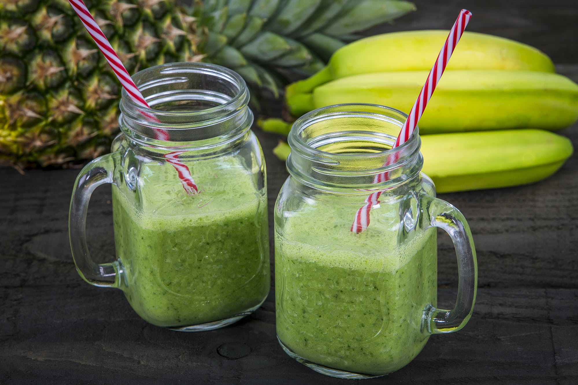Kale, Pineapple, and Almond-Milk Smoothie
