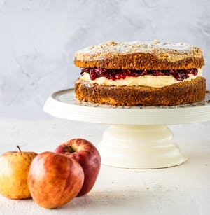 Apple and Blackberry Crumble cake