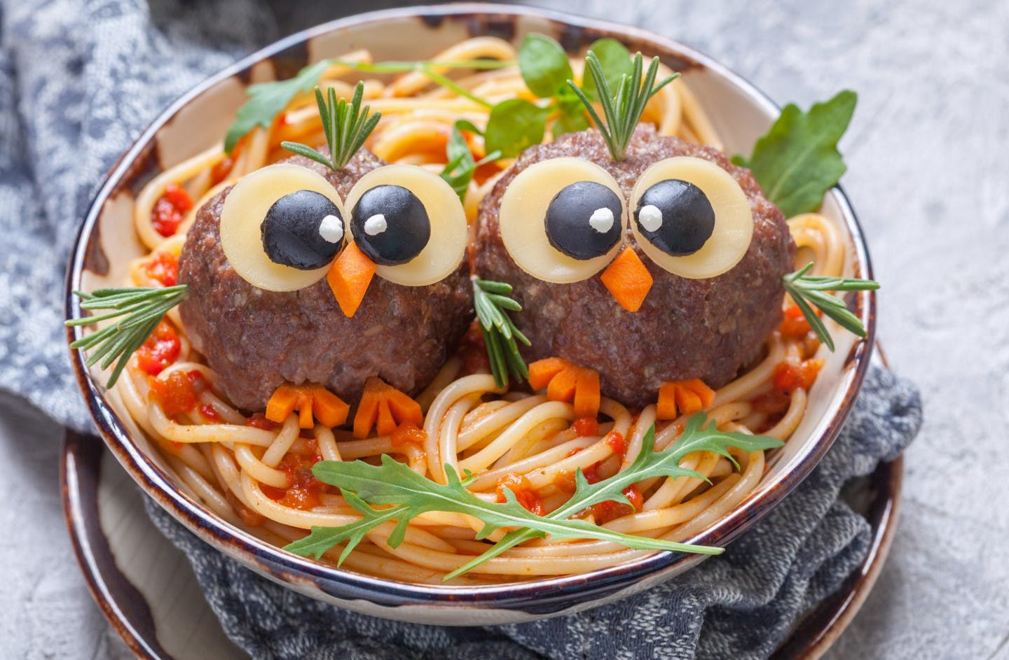 Birdy Meatballs and Pasta