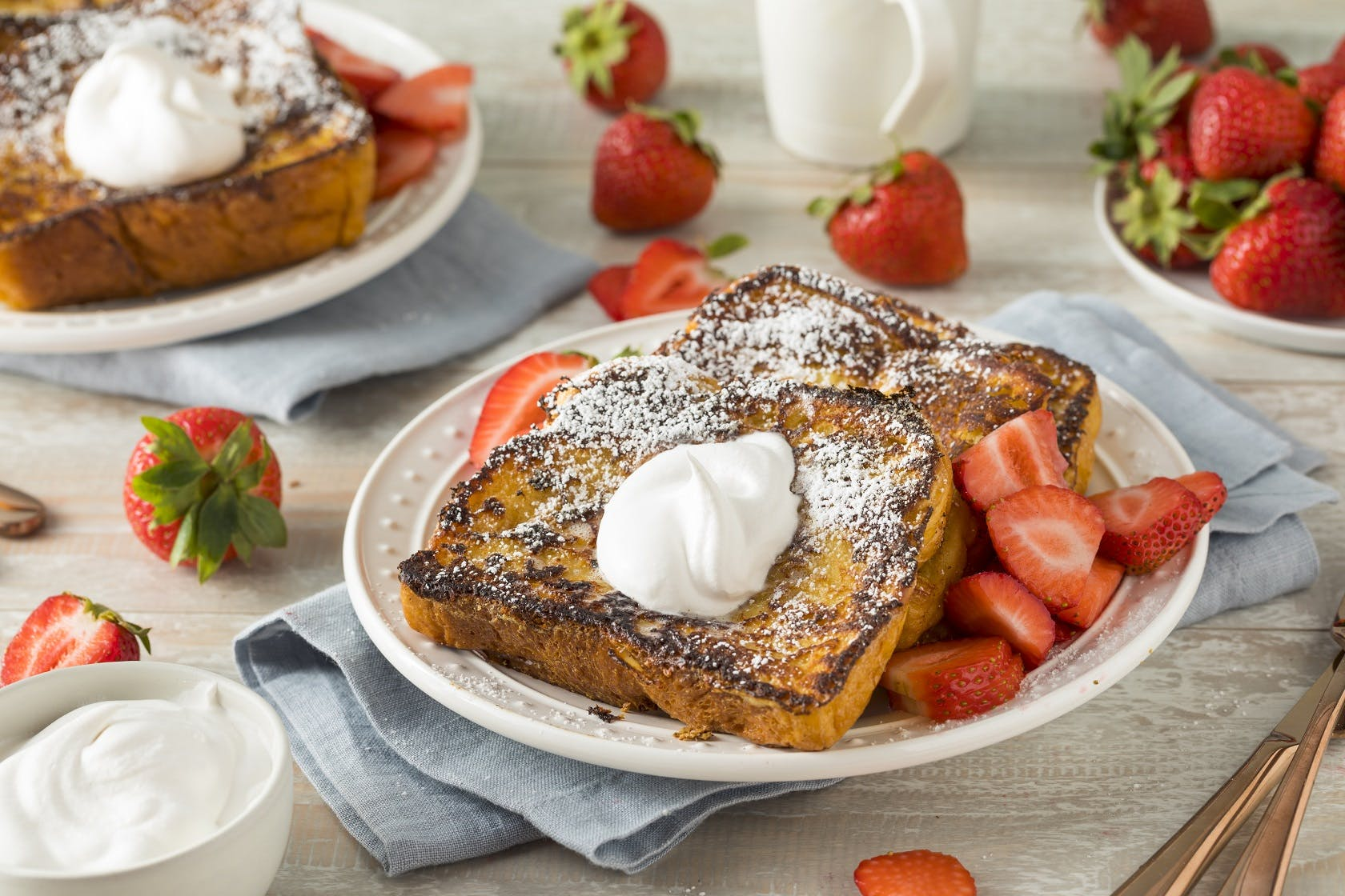Brioche and Strawberry French Toast