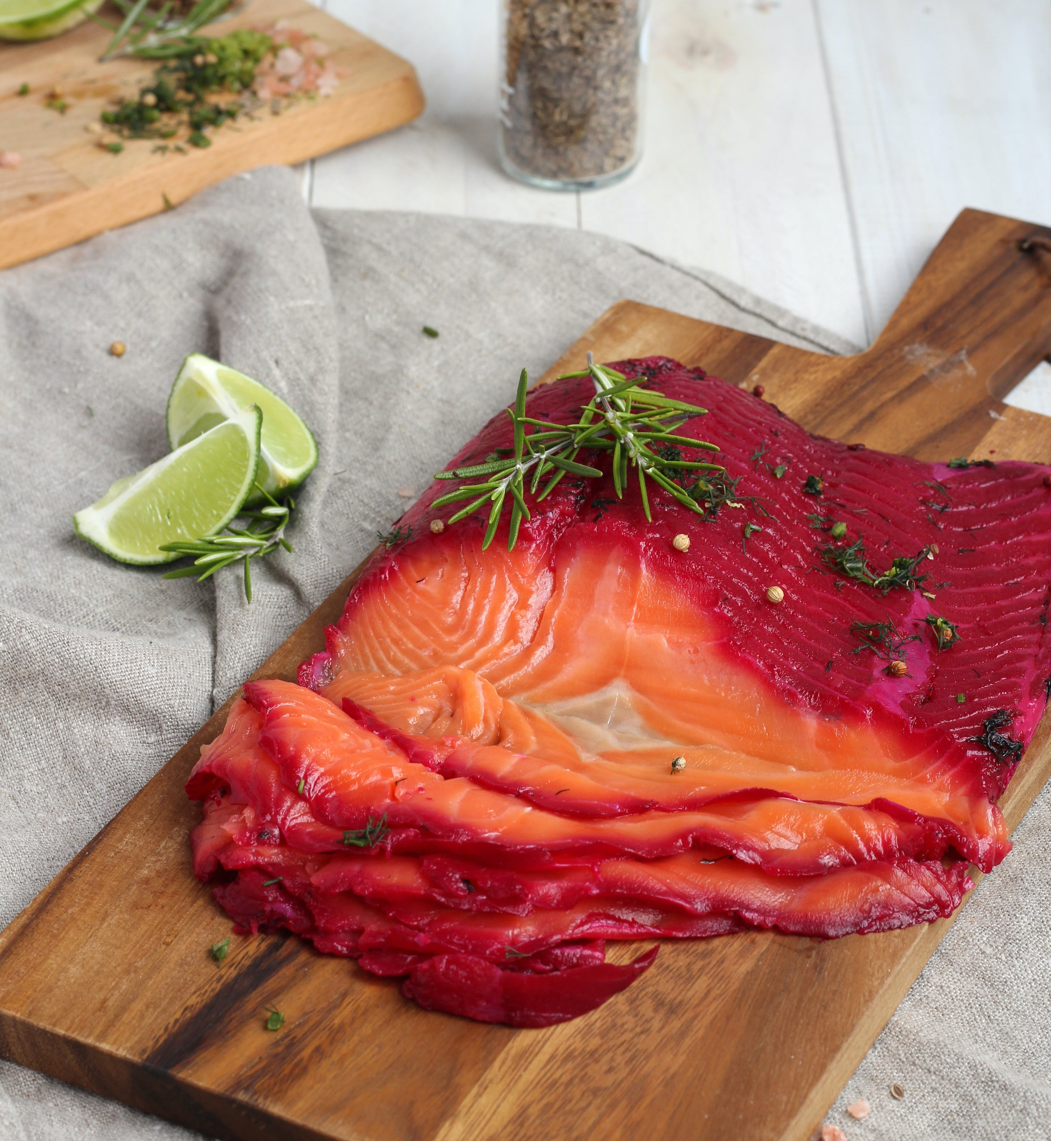 Blueberry and Gin Cured Salmon