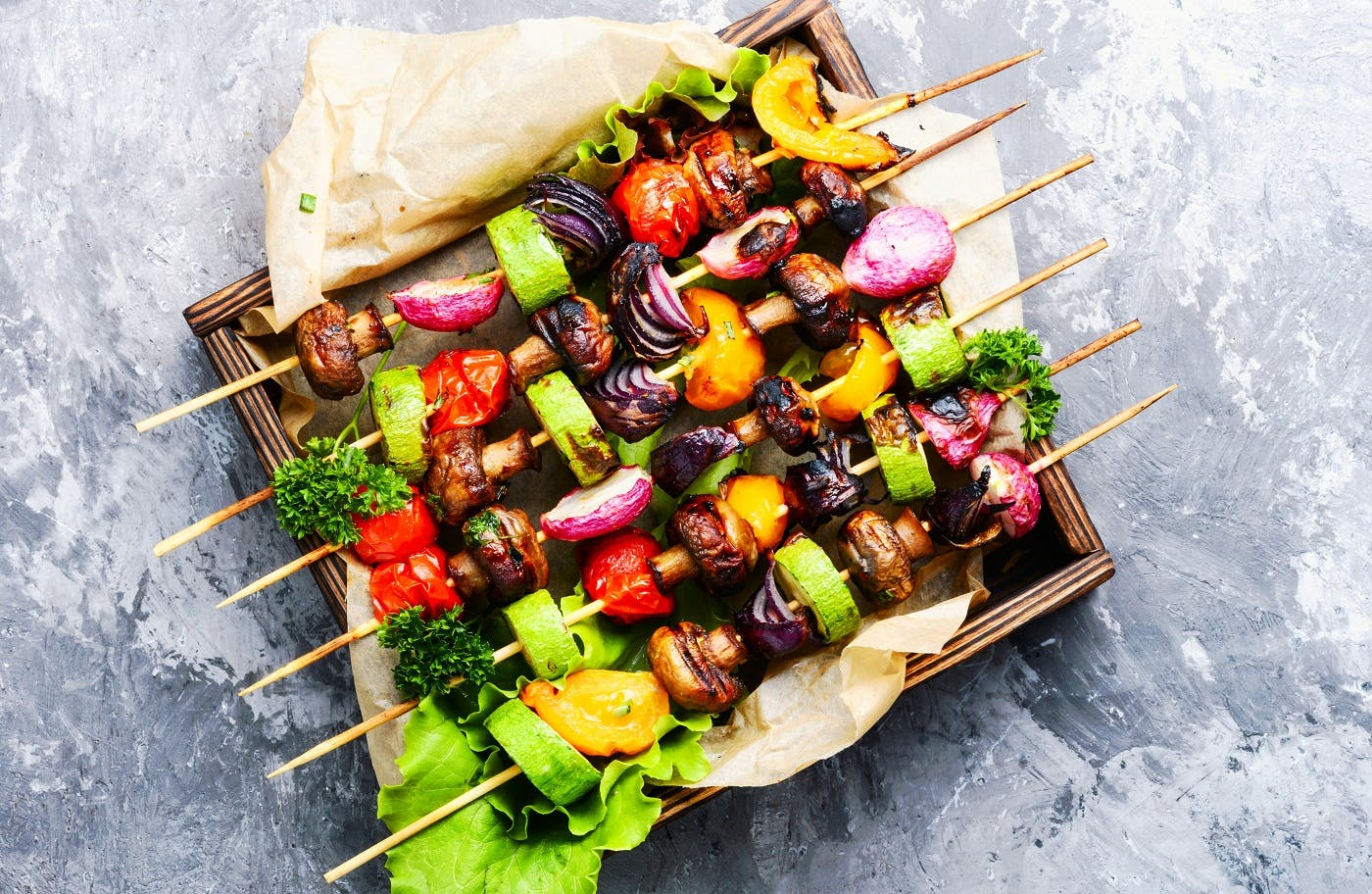 Sticky Vegetable Kebabs