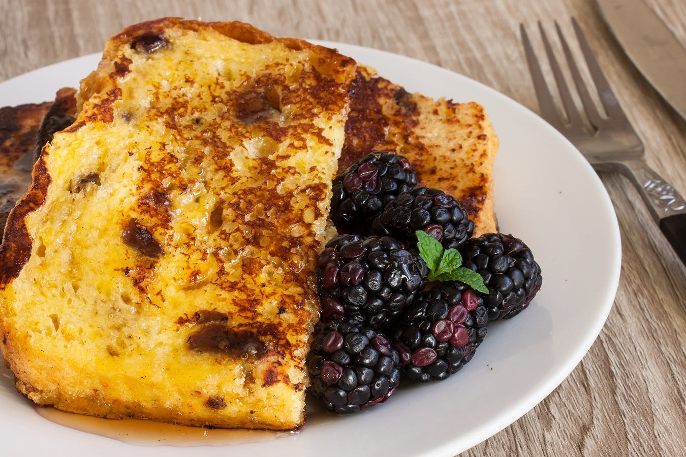 Panettone French Toast with Christmas Spiced Syrup