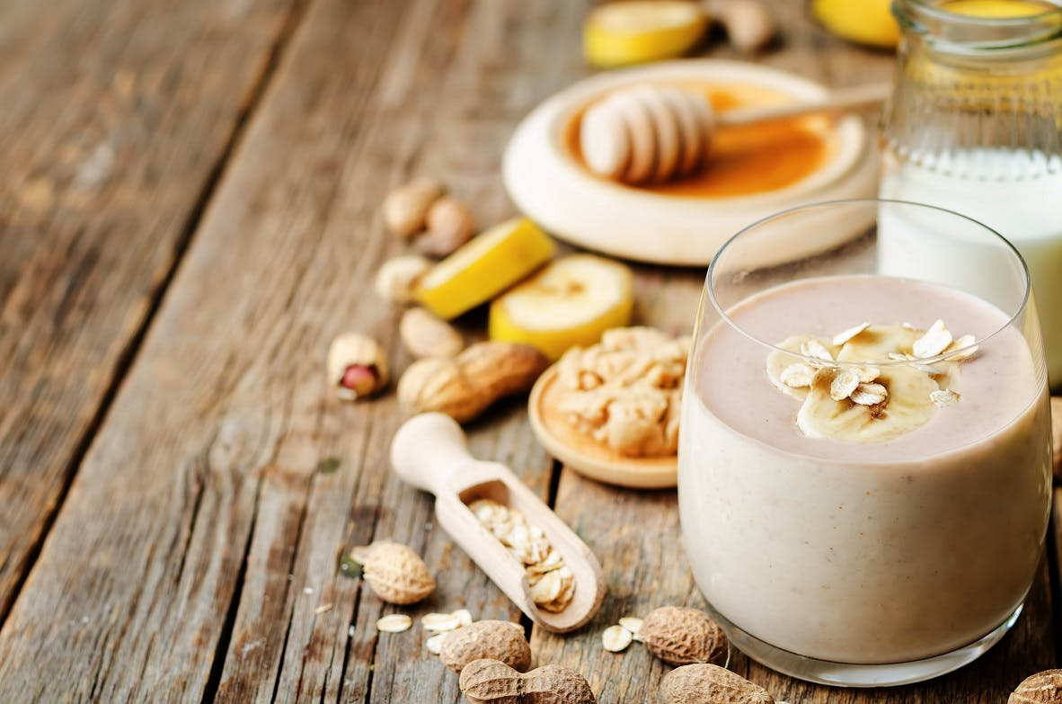 Peanut Butter, Honey and Banana Smoothie