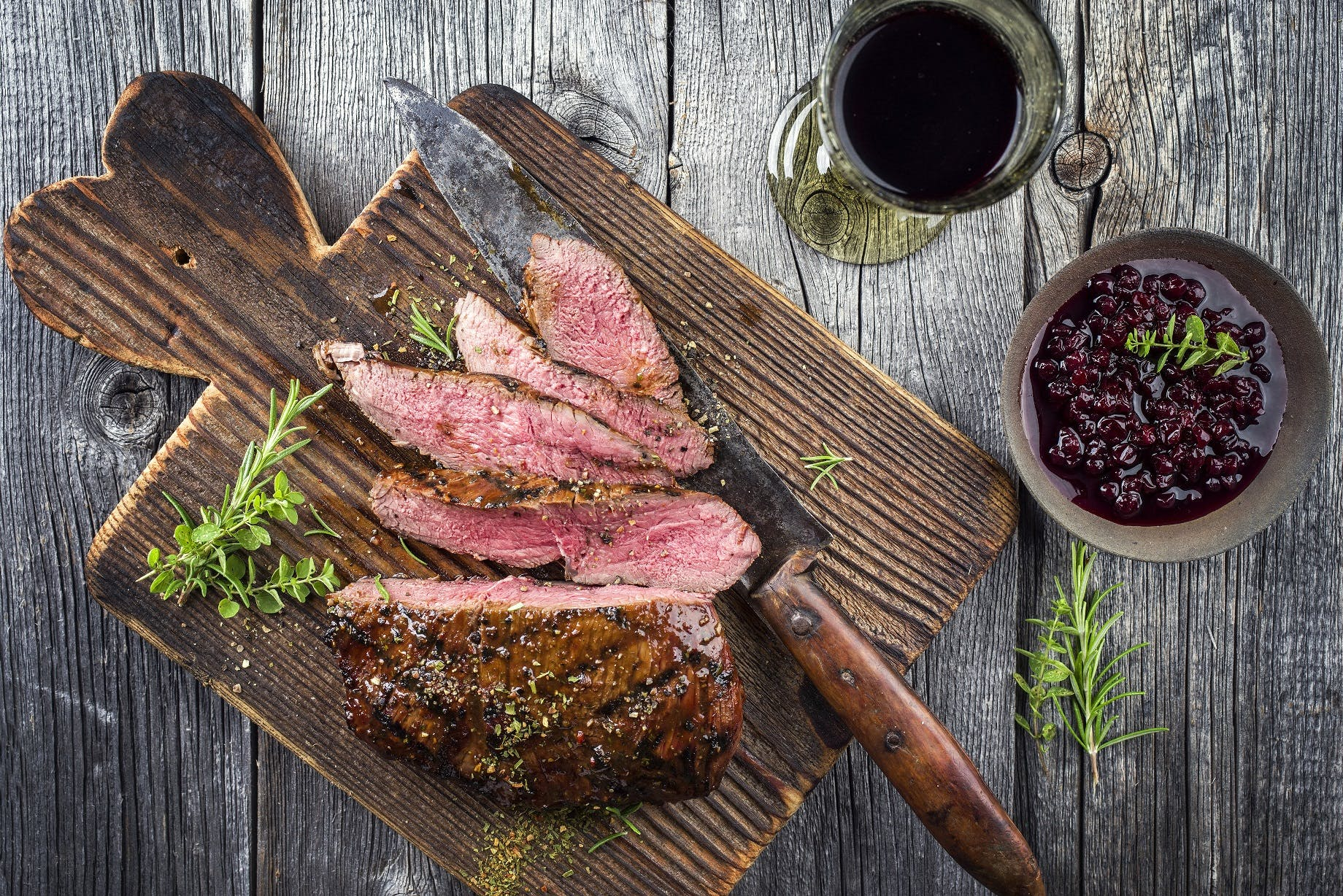 Venison with Lingonberry Sauce