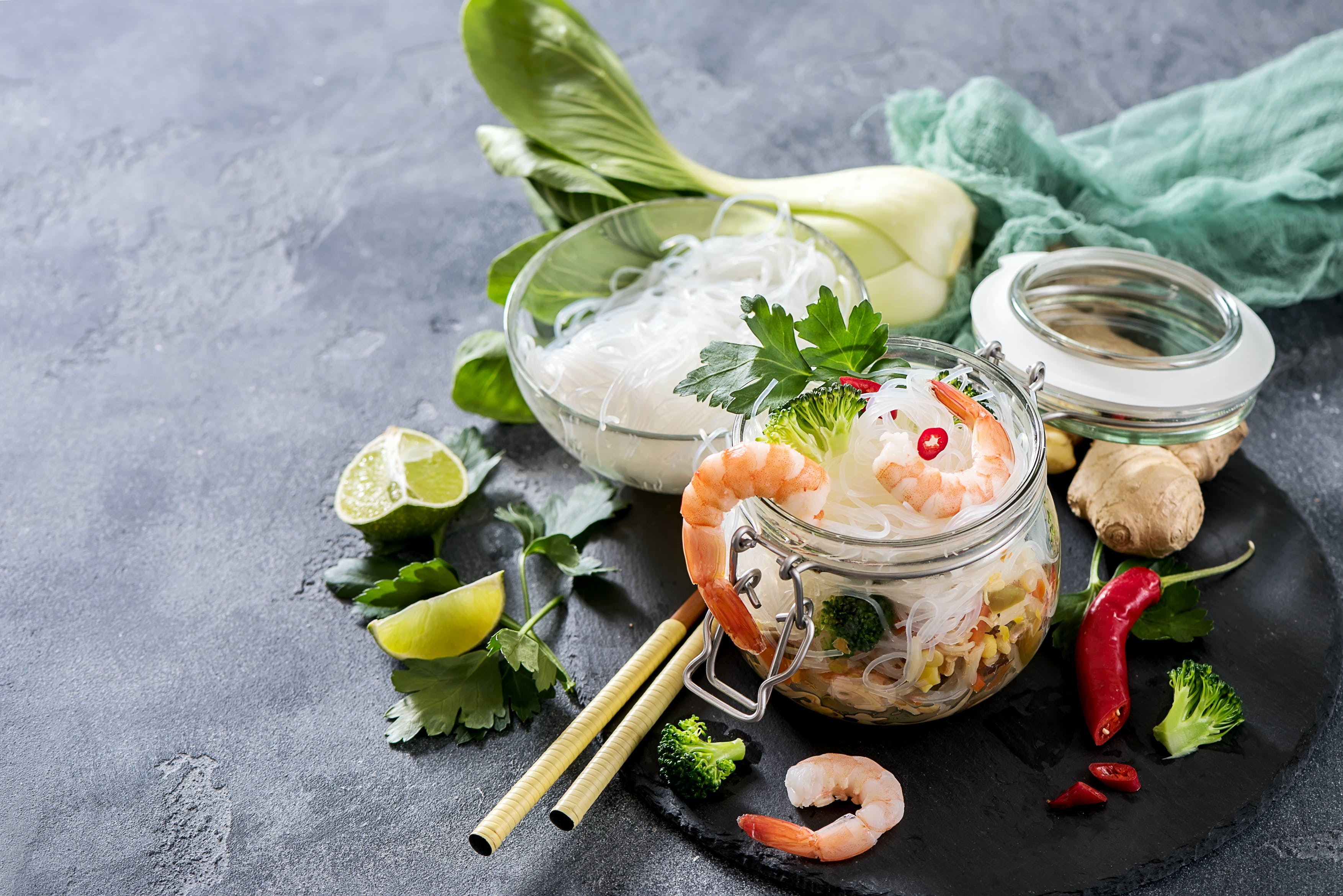 Prawn Noodles in a Jar