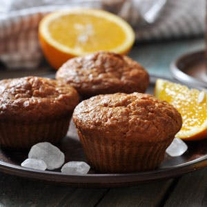 Orange and Hazelnut Muffins