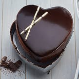 Chocolate Heart Ganache Cake