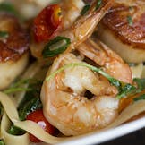 Prawn and Scallop Linguine