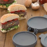 Wild Mushroom and Blue Cheese Stuffed Burgers