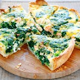 Salmon and Spinach Quiche