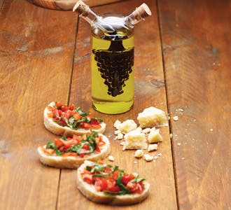 Tomato, Olive and Basil Bruschetta