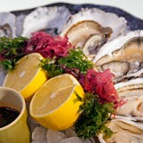 Oysters with sweet chilli sauce