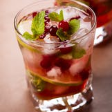 Christmas Cranberry and Lime Non-Alcoholic Cocktail