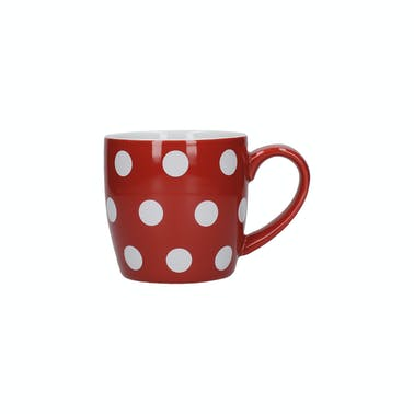 London Pottery Globe® Mug Red With White Spots