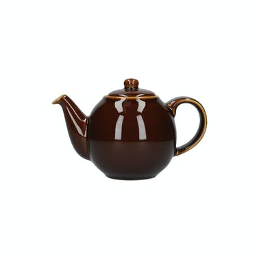 London Pottery Globe® 2 Cup Teapot Rockingham Brown