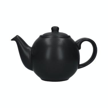 London Pottery Globe 6 Cup Teapot Matt Black