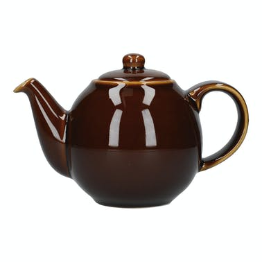 London Pottery Globe 10 Cup Teapot Rockingham Brown