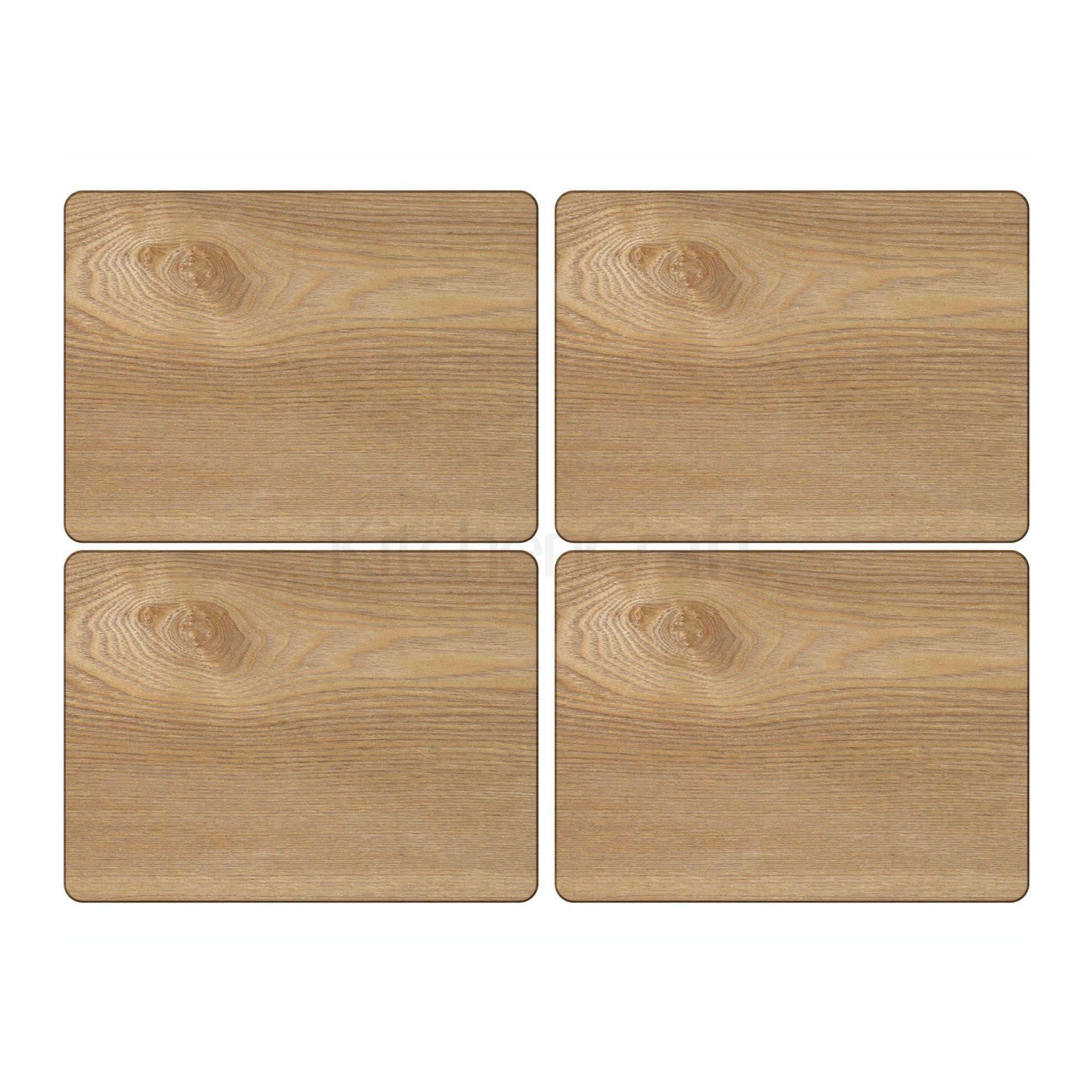 Oak Veneer Pack Of 4 Placemats