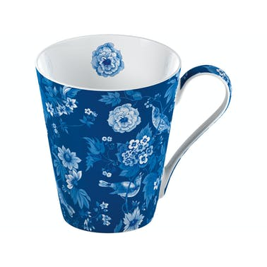 Victoria and Albert Garden Birds Mug In A Box Blue