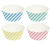 """Creative Tops """"Retro Treats"""" Waxed Paper Striped Cupcake Cases - Pack of 100 (Assorted Colours)"""