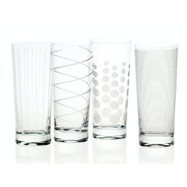 Mikasa Cheers Set Of 4 High Ball Glasses