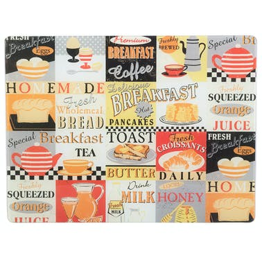Everyday Home Retro Breakfast Work Surface Protector