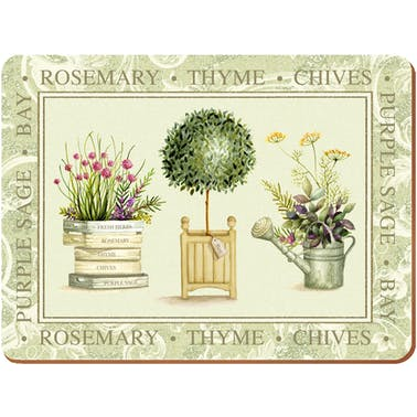 Creative Tops Topiary Pack Of 6 Premium Placemats