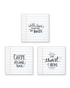 Photo of Fred Pack of 6 Noted Coasters