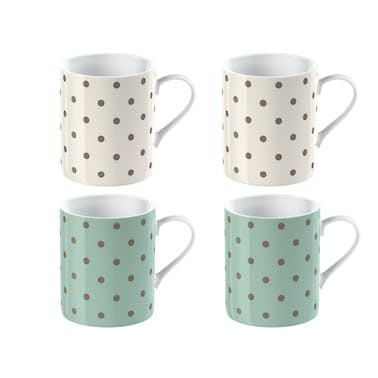 Katie Alice Cottage Flower Set Of 4 Espresso Cups
