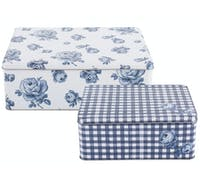 Katie Alice Vintage Indigo Set Of 2 Rectangular Cake Tins