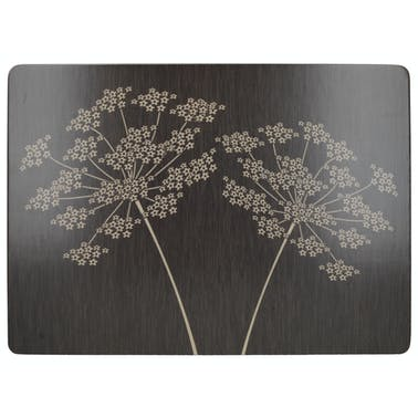 Creative Tops Silhouette Pack Of 4 Large Premium Placemats