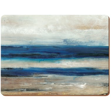 Creative Tops Blue Absract Pack Of 4 Large Premium Placemats