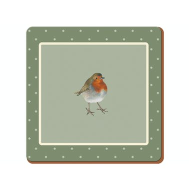 Creative Tops Into The Wild Robin Pack Of 6 Premium Coasters
